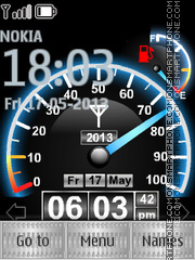 Speedometer Clock 01 theme screenshot
