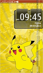 Pikachu 03 theme screenshot