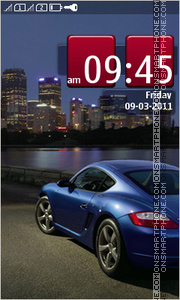 Porsche Car 01 theme screenshot