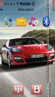 Porsche Panamera 01 theme screenshot
