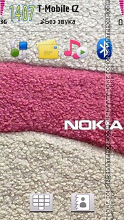 Nokia Pink 05 theme screenshot