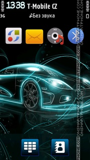 Neon Car 3D v5 theme screenshot