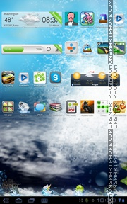 ArDiGraf Water theme screenshot