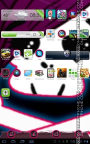 Emo Pink 01 tema screenshot
