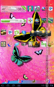 Butterfly 36 tema screenshot