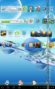 Ocean 04 tema screenshot