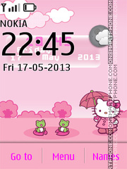 Hello Kitty Live Theme tema screenshot