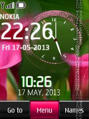 Скриншот темы Pink Flowers Dual Cock