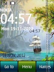Скриншот темы Ship Nature Digital Cock