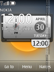 Desk Clock theme screenshot