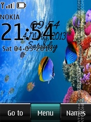 Under Water Digital theme screenshot