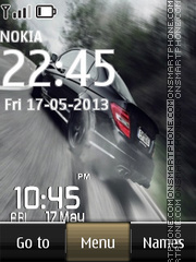 Drift Digital Clock Theme-Screenshot