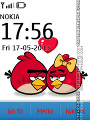 Angry Bird Couple theme screenshot
