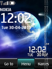 Galaxy Digital Clock 01 tema screenshot