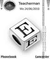 Letter E Cube theme screenshot