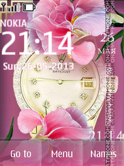 Glamour Clock theme screenshot