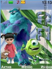 Скриншот темы Monsters, Inc.