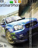Subaru snow rally theme screenshot