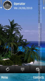 Tropic tema screenshot