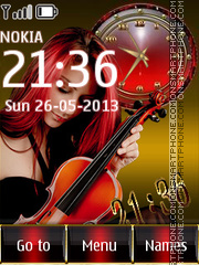 Girl With Violin theme screenshot