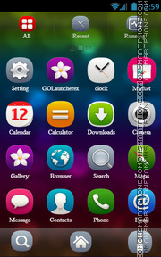 Bubbles theme screenshot