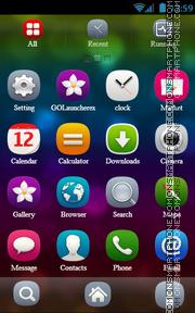 Bubbles tema screenshot