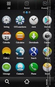 Black Texture tema screenshot