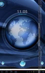 Скриншот темы Digital Earth