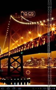 Golden City Lights theme screenshot