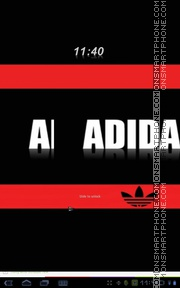 Adidas Red & Black theme screenshot