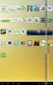 Summer Breeze Glass tema screenshot