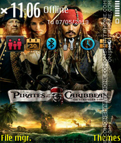 Pirates of the caribbean 09 es el tema de pantalla