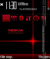 Red Nokia 06 theme screenshot