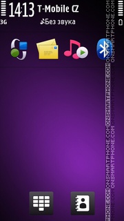 Nokia Theme Purple theme screenshot