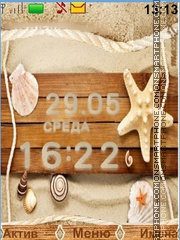 Seashells and sand theme screenshot