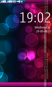 Bokeh effect theme screenshot