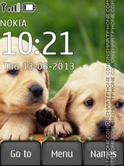 Labrador puppies theme screenshot