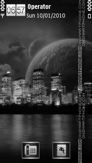 Dark City theme screenshot
