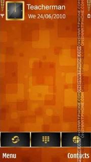 Orange Squares theme screenshot