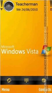 Скриншот темы Orange-Vista