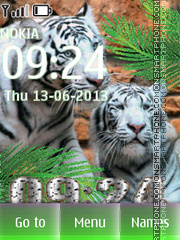 Bengal Tigers theme screenshot