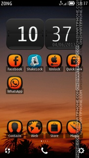 Sunset by joker theme screenshot