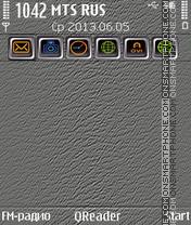 Скриншот темы Emboss