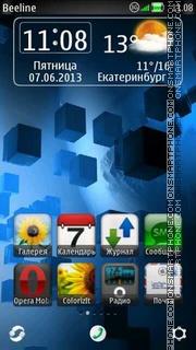 Cubes 2 theme screenshot