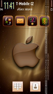 Apple Brown tema screenshot