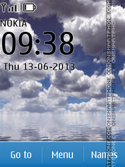 Cloudes above sea theme screenshot