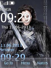 Jon Snow theme screenshot