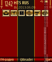 Скриншот темы Gold in Red