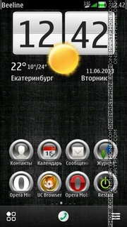 Black Grunge theme screenshot