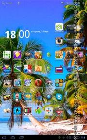 Caribbean Beach Shore theme screenshot